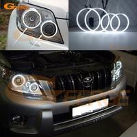 Excellent Ultra Bright Headlight CCFL Angel Eyes Kit For Toyota Land Cruiser Prado J150 2010 2012