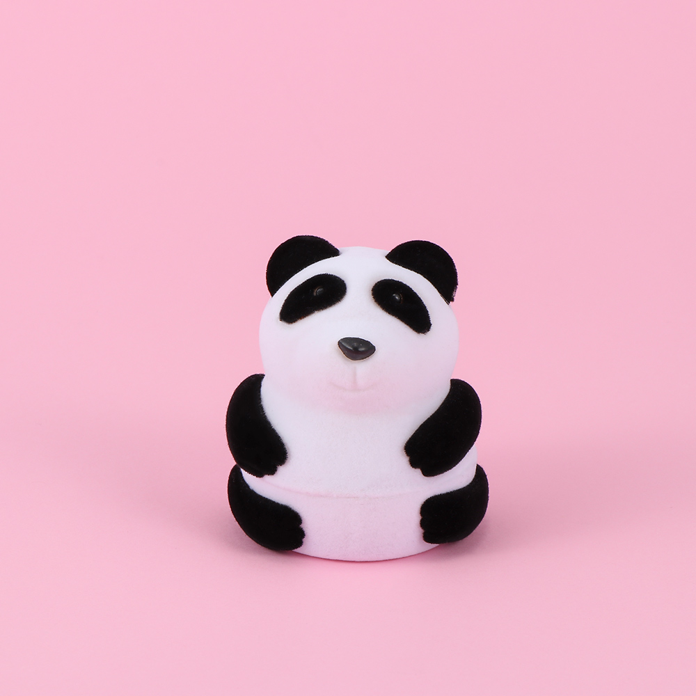 1 Pc Lovely Cute Creative Animal Shape Panda Jewelry Display Box Ring Earring Carrying Jewelry Packaging Container Storage Case