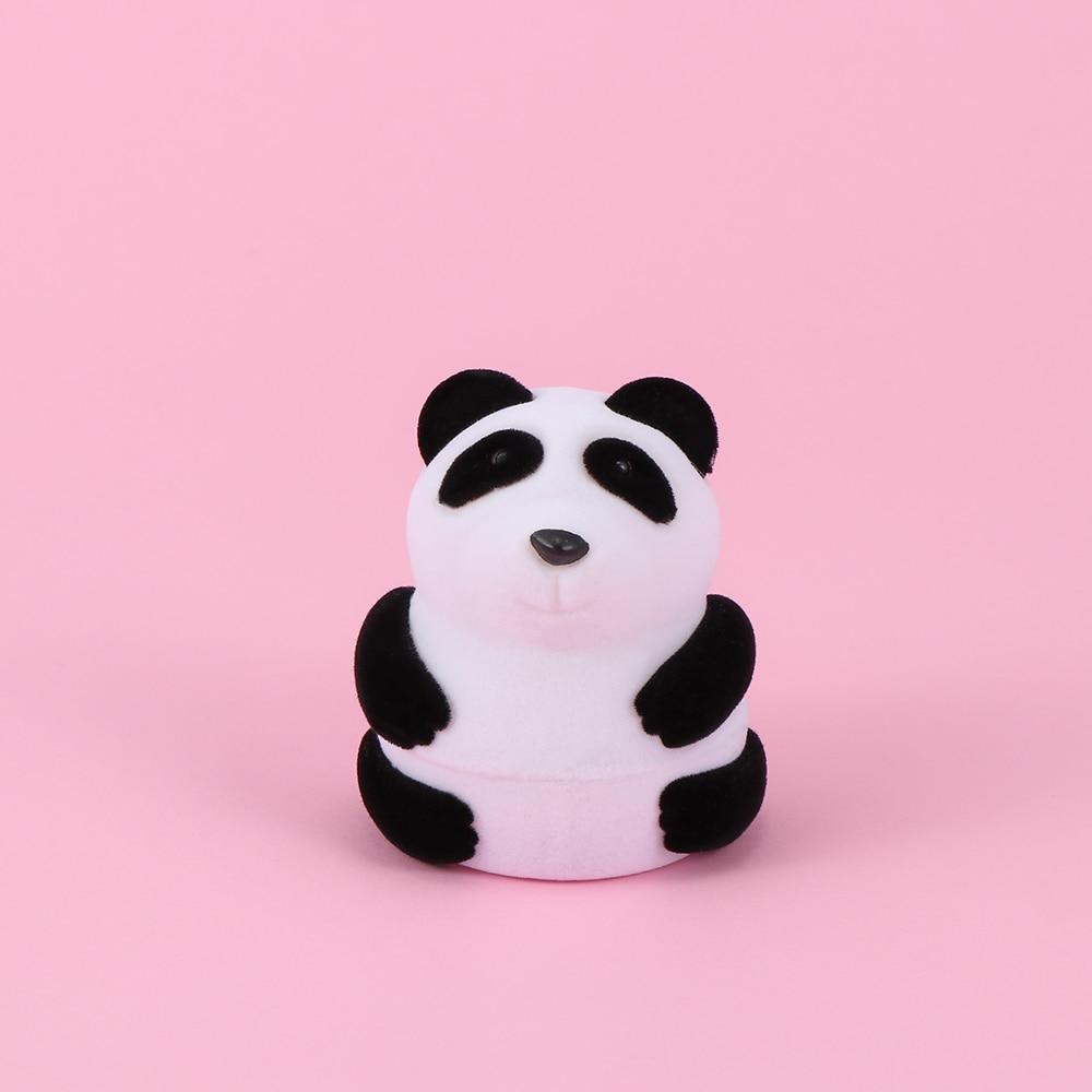 1 Pc Reizende Nette Kreative Tier Form Panda Schmuck Display Box Ring Ohrring Durchführung Schmuck Verpackung Container Lagerung Fall