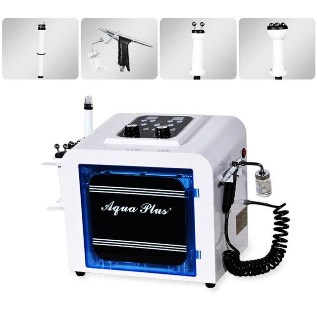 שימוש ביתי מיני 4 ב 1 פנים חמצן Jet O2 מכונה חמצן מים סילון לקלף פנים ציוד הידרו diomand dermabrasion יופי