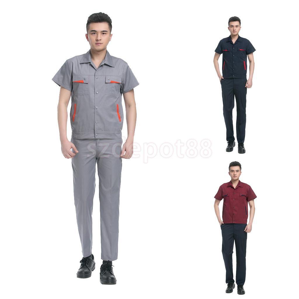 safety work shirt promotion shop for promotional safety work shirt 2016 new safety security guard uniforms shirt short sleeve clothing work men solid color security works clothing suit