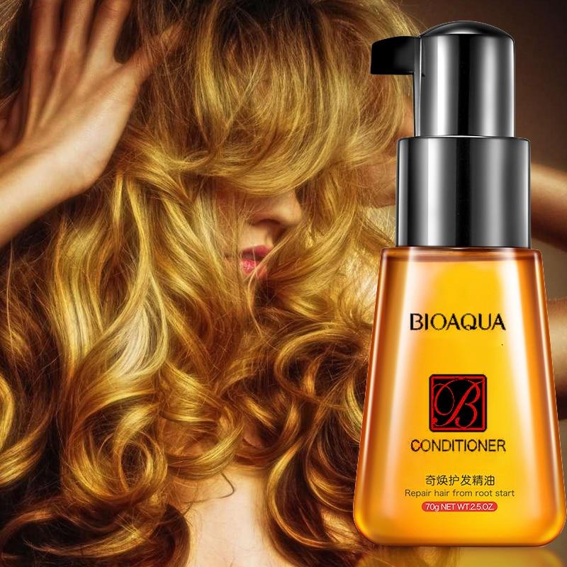 BIOAQUA 70ml Hair Keratin Moroccan Pure Argan Oil Hair Essential Oil For Frizzy Dry Repair Hair Care Hair Scalp Treatments