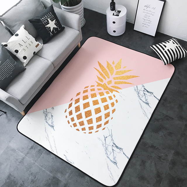 Winlife Modern Cartoon Style Carpets Pinele Printed Rugs Decorative Mats For Living Room Bedroom Washable