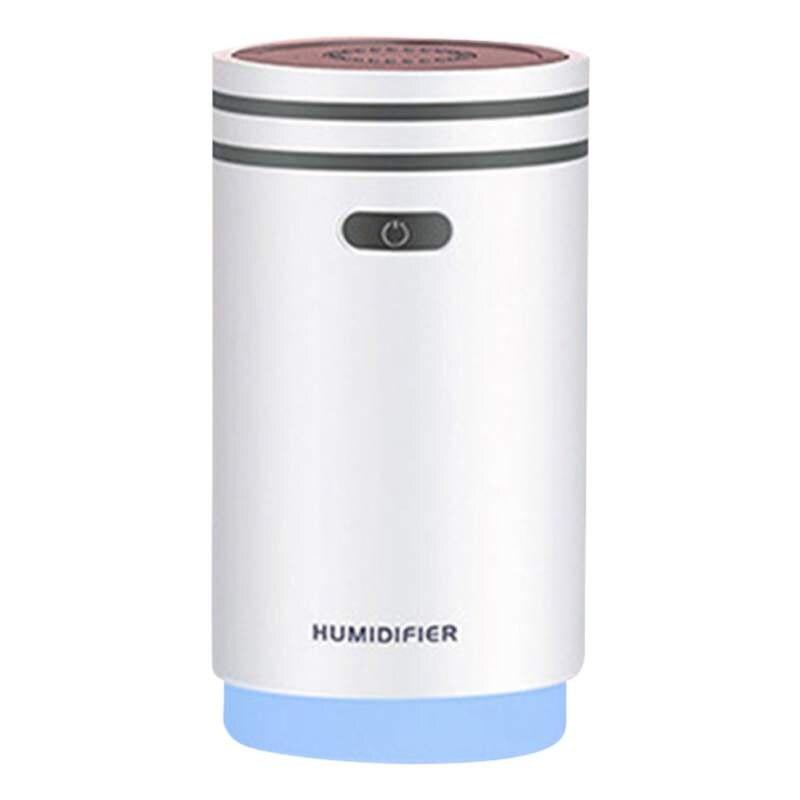 5 в 1 Мини увлажнитель воздуха тумана ночник ароматерапия вентилятор машины макияж зеркало спрей 5 функций-увлажнитель 280 мл - Цвет: H