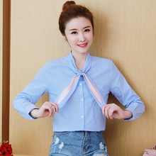 a652fbc43f770 2018 New Women Shirts Plaid Little Cute Bunny Ears Light Color Blouse Shirt  Blue Grid 1839