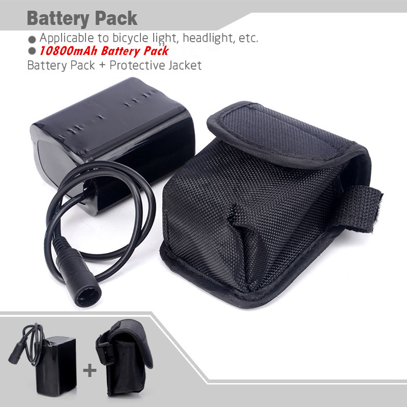 Free Shipping 18650 Bike battery 8.4V 10800mAh 6x18650 Battery pack For  LED Bicycle Lights With Pouch free shipping 4 8v battery pack 4500mah sc receiver battery pack 10c high rate battery pack