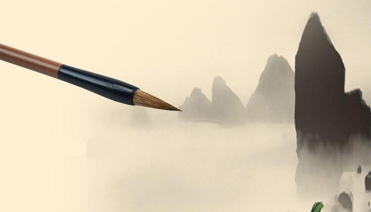 Pincel de Pintura Paisagem Chinesa Peônia Aquarela