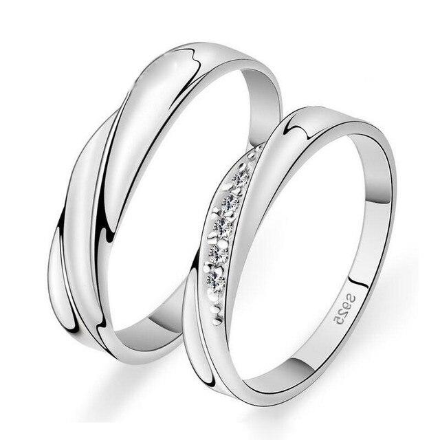 super popular 4d93d 03087 € 7.51 |925 anillo de plata esterlina con aaa cz crystal elegent pareja  anillos wedding band anillo anillo plata 925 mujer ee. uu. tamaño en  Anillos ...