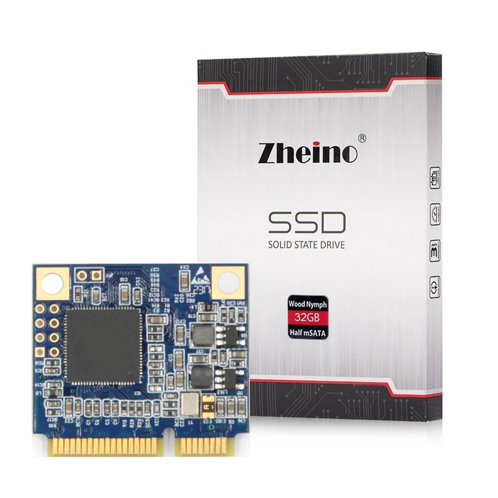 Zheino Demi Taille mSATA SSD 16 gb 32 gb 64 gb 128 gb 256 gb SATA III Mini (Moitié taille) SATA3 SSD Lecteur à État Solide