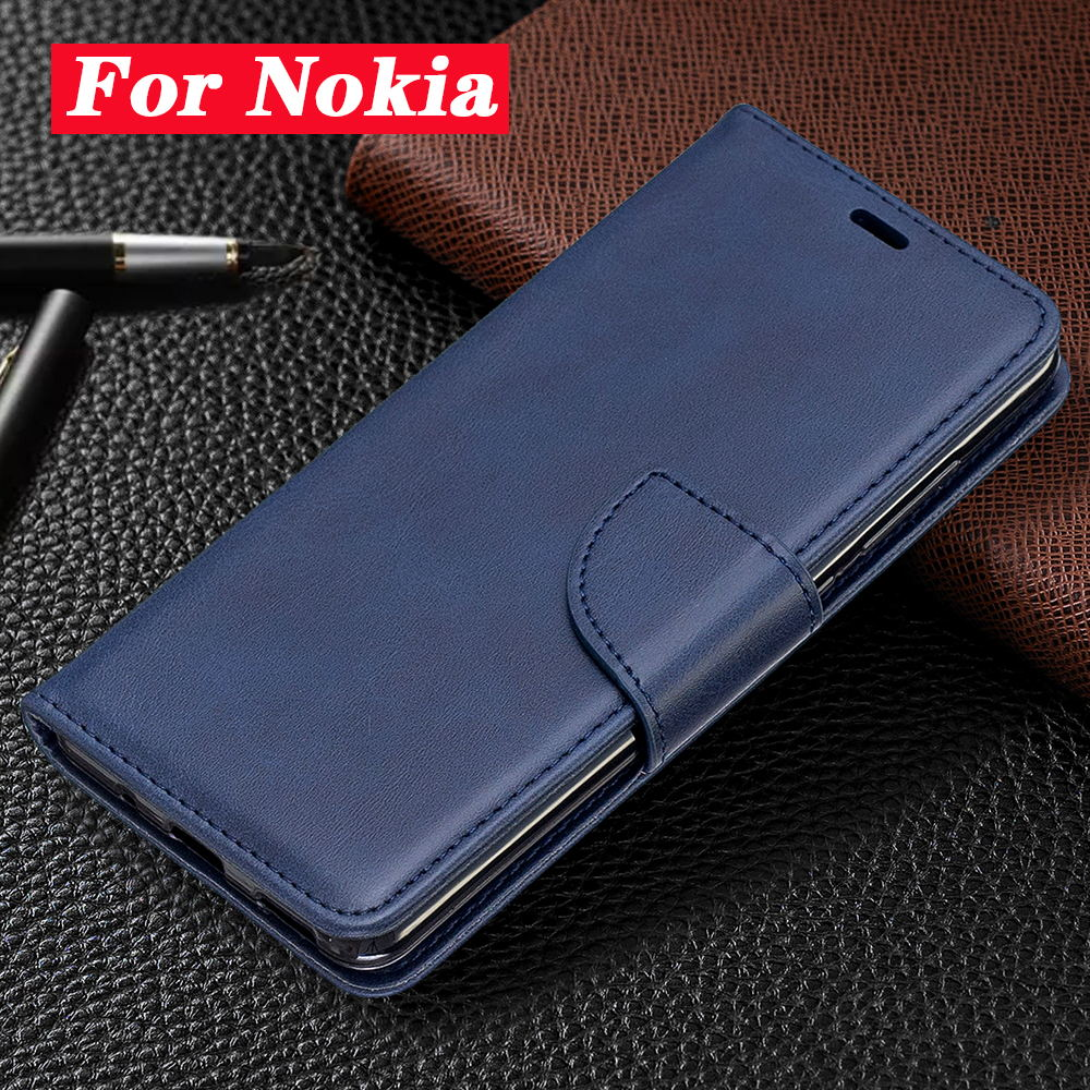 Business Leather Flip Case For Nokia 7/6/6.1/5/5.1/3 Magnetic Leather Wallet Phone Cases For 2.1/2.2/3.1/3.2/4.2 Cover Coque