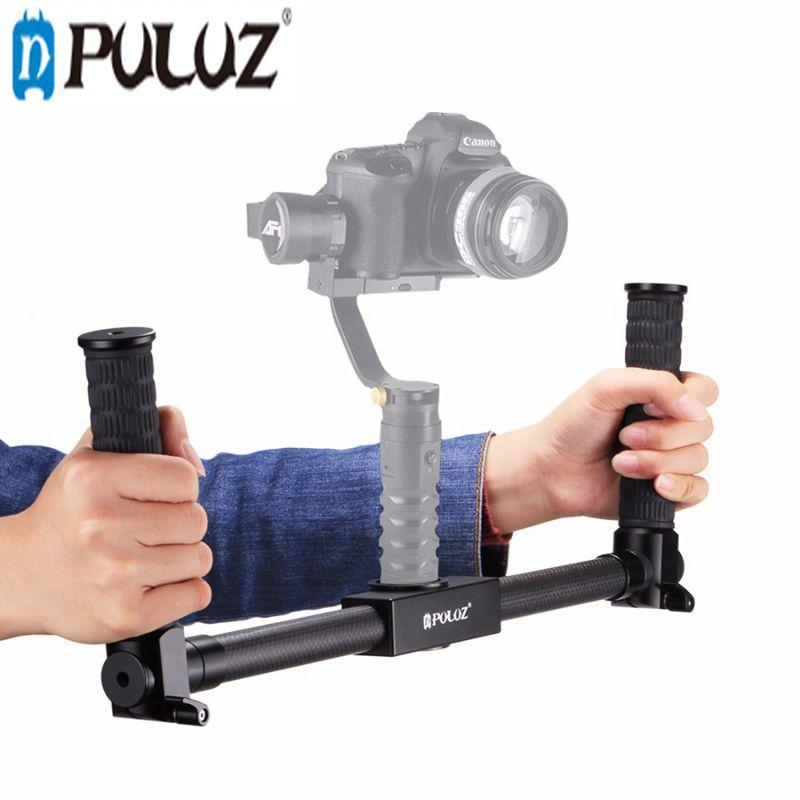 Здесь продается  PULUZ PU369 Dual Handheld Grip Gimbal Extended Bracket Carbon Fiber Metal 3-Axis Stabilizer   Бытовая электроника