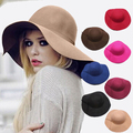 Англия стиль весна лето шляпы для женщин мода открытый большой пляж шляпа солнца конфеты цвет последним свободного покроя женщины шапки