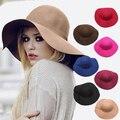 Inglaterra sólida verão chapéus para mulheres moda praia grande chapéu de sol doce de cor mais novo mulher de