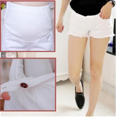 Recién llegado de corea moda pantalones de maternidad de verano pantalones cortos de mezclilla pantalones de maternidad ayuda del vientre de embarazada SH-1085