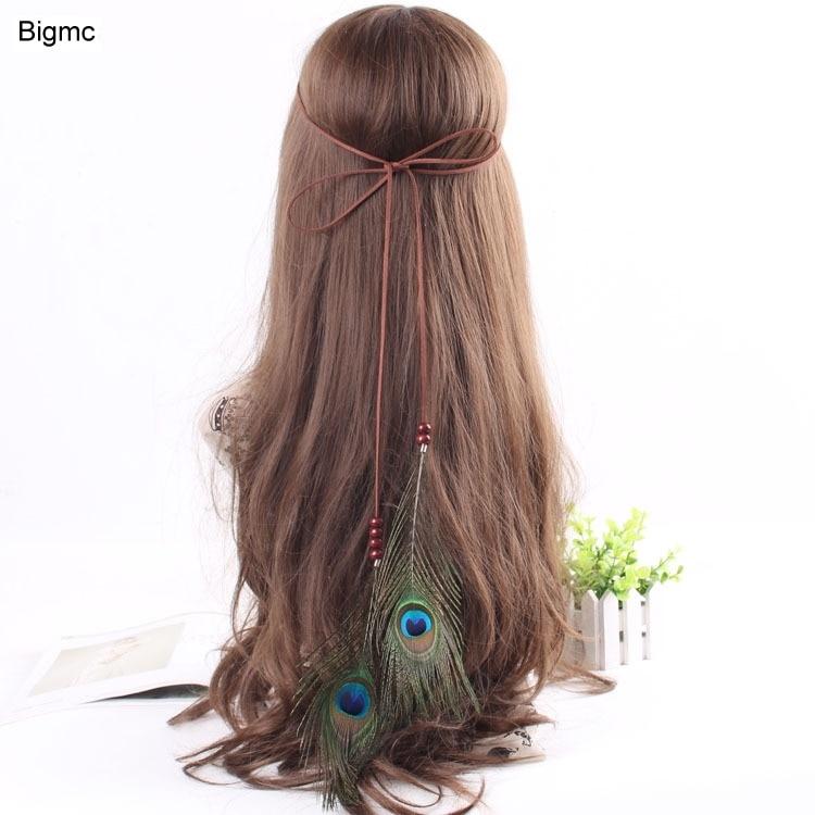 Mrwonder Women Pretty Feather Elastic Hair Band Chic Cosplay Indian Chief Hair Loop Headband Ornament Apparel Accessories
