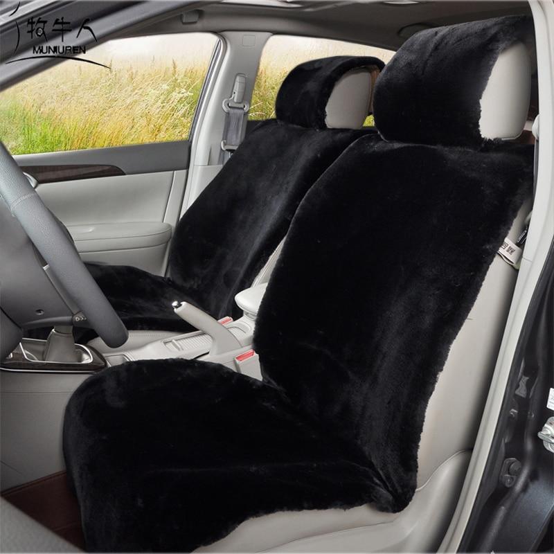 MUNIUREN Yüksek Kalite Peluş Araba Koltuğu Kalınlaşmak - Araç Içi Aksesuarları - Fotoğraf 1
