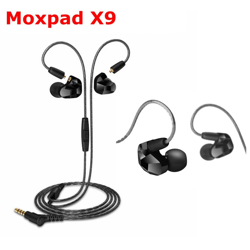 New Moxpad X9 In-ear Headset Bass HD earphones Dynamic Microdriver Earphones Built In Mic With Detachable Cable NO BOX PK KZ ZST moxpad x9 3 5mm in ear headset dual dynamic driver music hifi bass headphones sport earphones with mic for smart phones with box