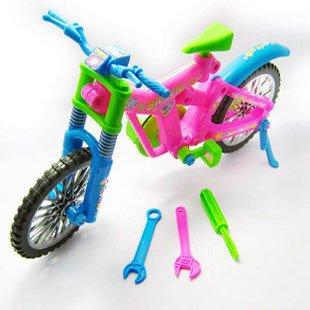 कैंडिस गुओ प्लास्टिक टॉय सिमुलेशन सिमटती हुई बाइक साइकिल असेंबल ब्लॉक बिल्डिंग मॉडल एजुकेशनल DIY बेबी बर्थडे गिफ्ट सेट