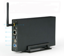 "U35WF WiFi Repetidor Wifi de Alta Velocidad Router inalámbrico Negro HD Externo HDD Caddy Sata a USB 3.0 WiFi Extender 3.5 ""Caso Del HDD 3.0"
