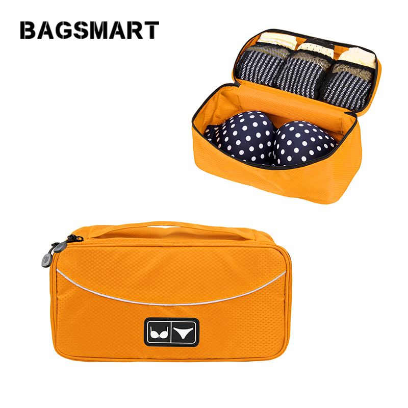 BAGSMART Nylon Women Underwear Travel Bag Bra Case For Travel Packing Bags For Bra Packing Cube To Pack Your Luggage Suitcase