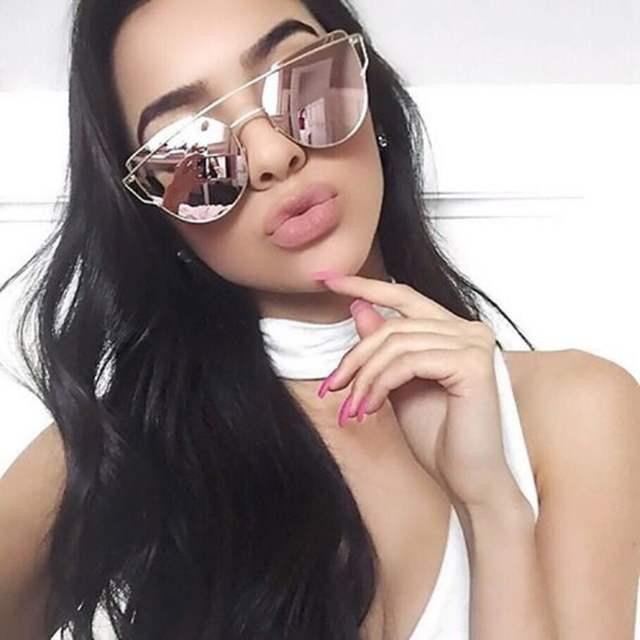 Runbird moda cat eye óculos de sol para as mulheres marca grife clássico  twin-vigas 2177033b3f