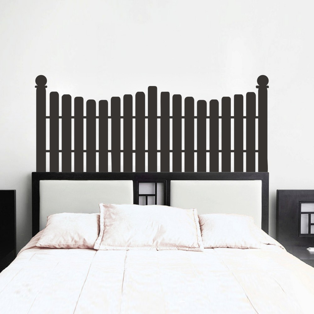 Picket Fence Headboard Wall Decal Four