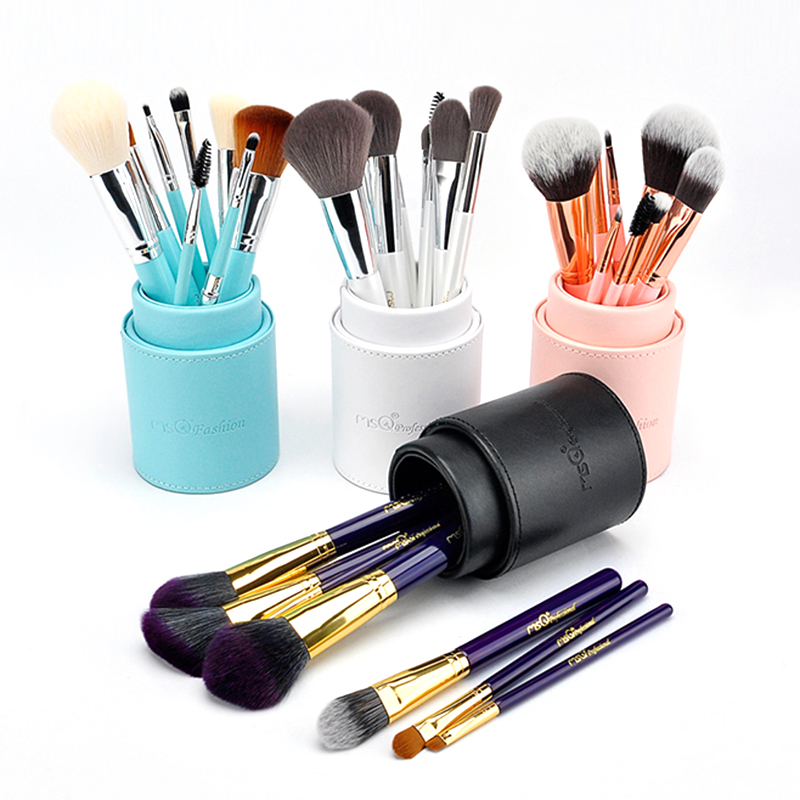 MSQ 8pcs Professional Makeup Brushes Set Cosmetic Foundation Blending Pencil Brush Face Fiber Hair Brush Makeup Tool 4 Colors 15pcs blending pencil cosmetic brushes
