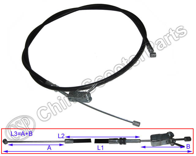 Brake Cable  For Kazuma Jaguar 500CC ATV UTV XinYang Parking Brake Cable 155CM