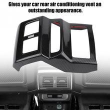 Автомобильный черный подлокотник коробка сзади Кондиционер Vent Выход Обложка отделка декоративные углеродного волокна, пригодный для Audi Q5 FY 2018