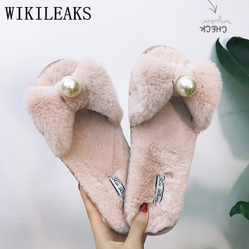 new fur slippers women shoes pantufas de pelucia chinelo home slippers designer fashion fur slides furry slippers ladies pantufa plush winter slippers indoor animal emoji furry house home with fur flip flops women fluffy rihanna slides fenty shoes