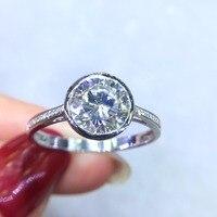 Fine Jewelry Real 18K Gold AU750 G18K 2ct Moissanite Diamond Ring Gemstone Rings for Women