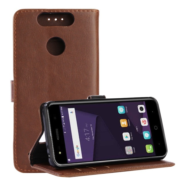 reputable site 56c49 3c11d US $7.79 |DULCII for ZTE Blade V8 Mini Cover Cases Retro Style Crazy Horse  Texture Leather Wallet Case for ZTE Blade V8 Mini Case Coque-in Flip Cases  ...