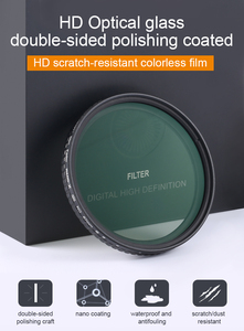 K&F Concept ND2-32 Fader ND Filter 52mm 62mm 67mm 72mm 77mm NO