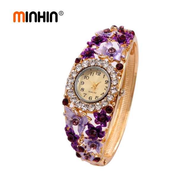 minhin women casual quartz watches green purple colorful rose