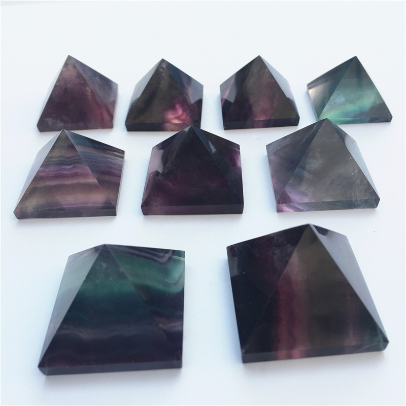 1pc The high quality natural fluorite crystal pyramid can be used to dispel evil and improve