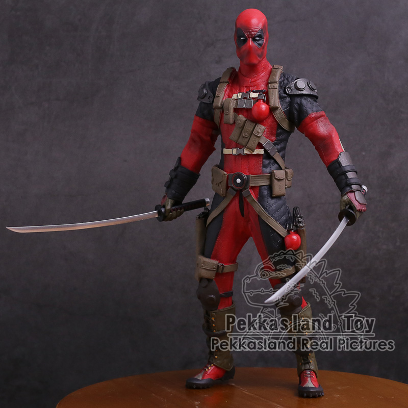 Crazy Toys Deadpool PVC Action Figure Collectible Model Toy 12 30cm 24cm pvc deadpool action figure breaking the fourth wall scene dead pool kids birthday christmas model gift toys