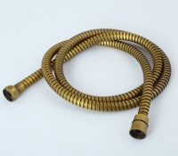 Antique Gold Black Bronze Chrome Flexible Pipe Explosion proof Double Buckles 1.5 Meters Shower Retractable Plumbing Hose pull