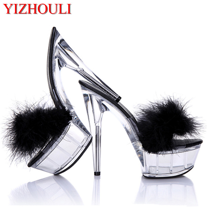15 CM High Heels Slippers Club Night Shoes Sexy Pole Dancing Shoes Platform Women's Shoes Dance Shoes