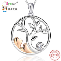 2018 Boho Tree of Life Dichroic Heart 925 Sterling Silver Chain Pendant Necklace Fashion Jewelry Necklaces & Pendants For Women