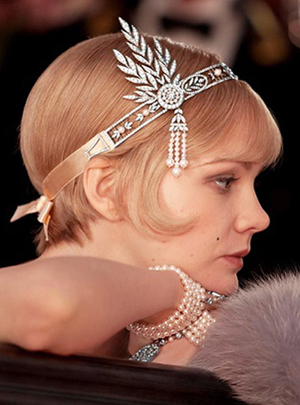 The Great Gatsby heroine same paragraph Gorgeous pearl tassel hair bands hair accessory hair band fashion