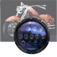 1PCS 130W 7 Inch Round Motorcycle Led Headlight For Harley Davidson DRL Turn Signal High Low