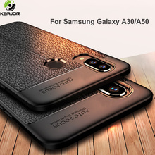 Keajor Soft Case For Samsung Galaxy A50 Leather Luxury Armor Bumper TPU Silicone Cover A30 Phone
