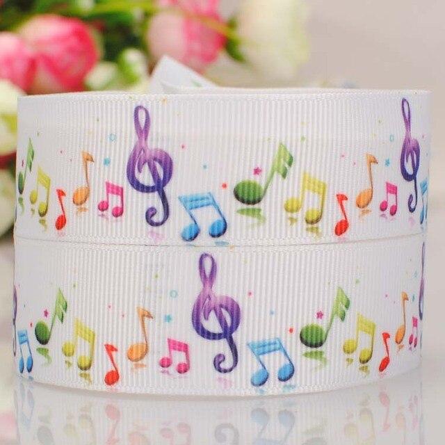 22mm farbe druck ripsband glücklich fünf linie musik symbol DIY haar ...