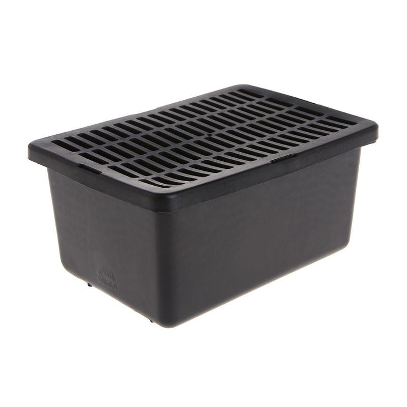 Reptile Feeder Plastic Case Feeding Breathable Grid For Turtle Lizard Snake Cage Feeding Supplies