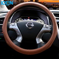 High Quality Leather Anti-Slip Car Steering Wheel Cover Stitches Vehicle Interior Accessories Car Styling for ford focus 2 w5w