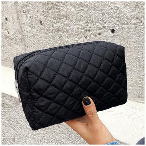 New Women Multifunction Travel Portable Cosmetic Bag Makeup Case Pouch Toiletry Organizer Storage Black Blue Pink Purple Orange
