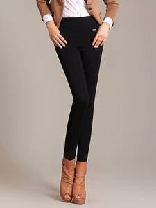 Skinny Trousers Leggings Pencil-Pants Stretch Elegant High-Waist Female Plus-Size 5XL