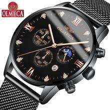 OLMECA Quartz Watches Luxury Brand Men's Watch Fashion Stainless Steel Wristwatches Relogio Masculino Military Water Resistant все цены
