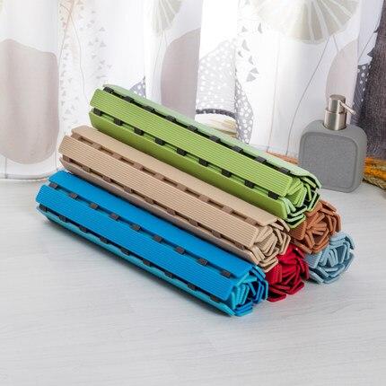 TPE + PP tapis de porte salle de bain tapis antidérapants douche imperméable en plastique tapis rapide-drainant 180 jours mildewproof tapis de pied 40x63 cm