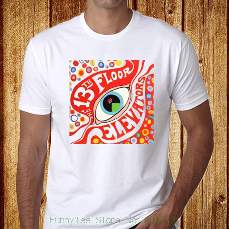 The 13th Floor Elevators Rock Band Men&#039 ; S White T-shirt Size S - 3xl Free Shipping